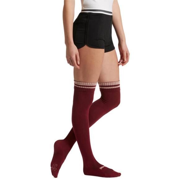 Women's Over-the-Knee Socks [1 Pair], BURGUNDY, large