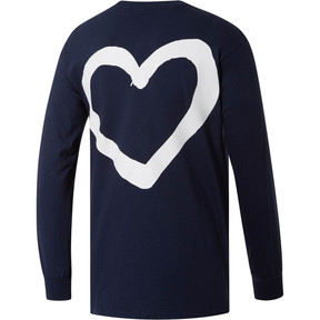 Thumbnail 2 of PUMA Peace + Love x MIA x Josh Vides Men's Classic Long Sleeve Pocket T-Shirt, Navy, medium