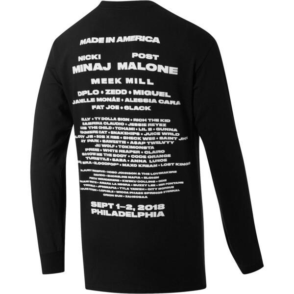 PUMA EAGLE x MIA x Josh Vides Men's Classic Long Sleeve T-Shirt, Black, large