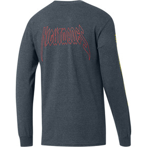 Thumbnail 2 of PUMA x DCMX Nightmares Long Sleeve Tee, Medium Gray Heather, medium