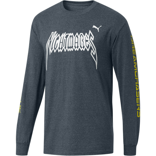 PUMA x DCMX Nightmares Long Sleeve Tee, Medium Gray Heather, large