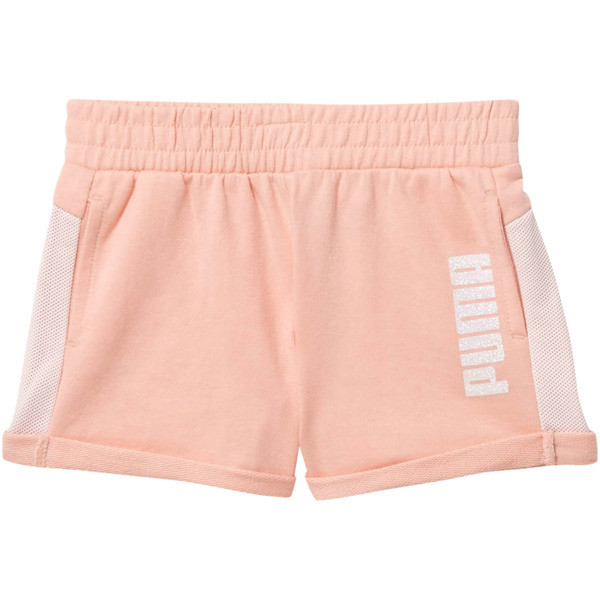 Mesh Fashion Toddler Shorts, PEACH BUD, large