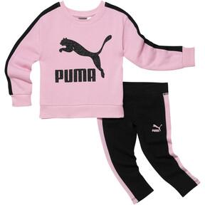Thumbnail 1 of Infant + Toddler Pullover + Leggings Set, PALE PINK, medium