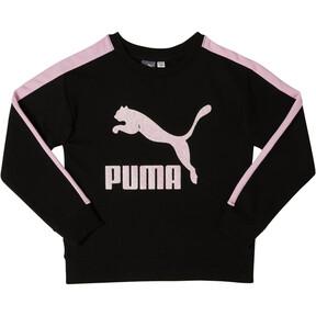 Thumbnail 1 of Girls' Fleece Crew Pullover JR, PUMA BLACK, medium