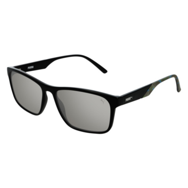 PUMA Classic Rectangle Sunglasses, BLACK, large