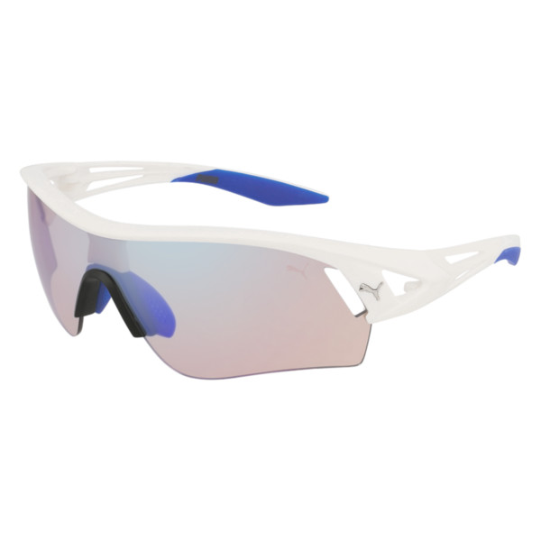 PUMA Shield Sunglasses, Matte White, large