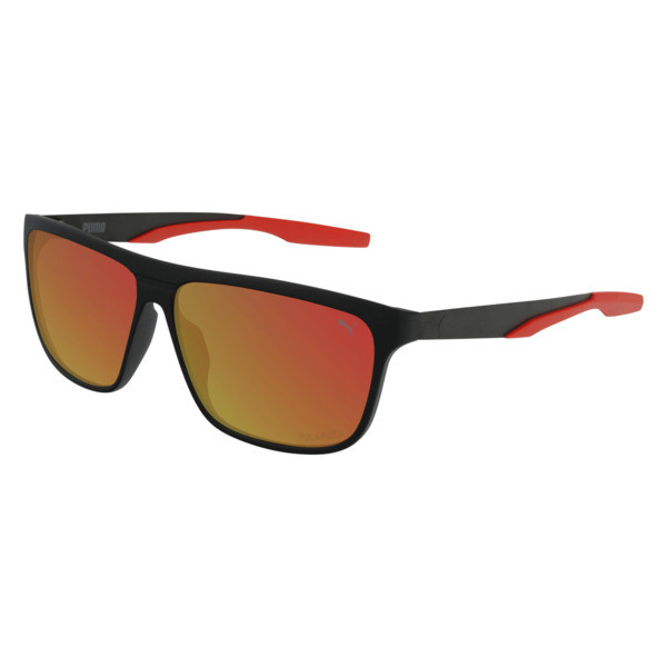 Laguna Square Sunglasses, BLACK-BLACK-RED, large