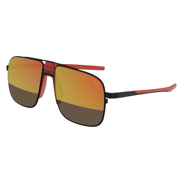 Lookout Pier Square Sunglasses, BLACK, large