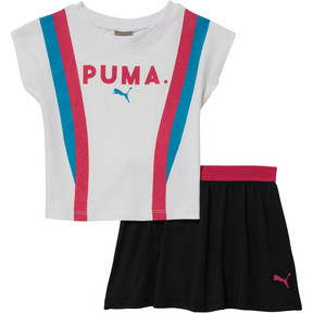 Thumbnail 1 of Infant + Toddler Top + Skort Set, PUMA WHITE, medium