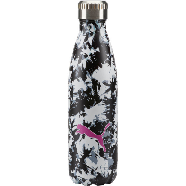 PUMA Chroma Vacuum Stainless Steel 17 oz. Water Bottle, Black White Camo, large