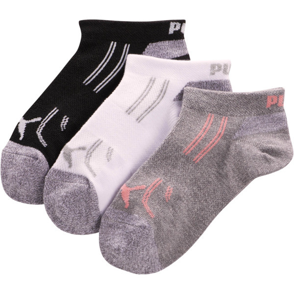 Girls' 1/2 Terry Low Cut Socks [3 Pack], PASTEL COMBO, large