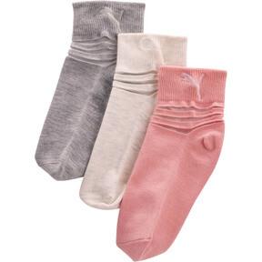 Thumbnail 1 of Girls' Non Terry Low Cut Socks [3 Pack], PINK / MULTI, medium