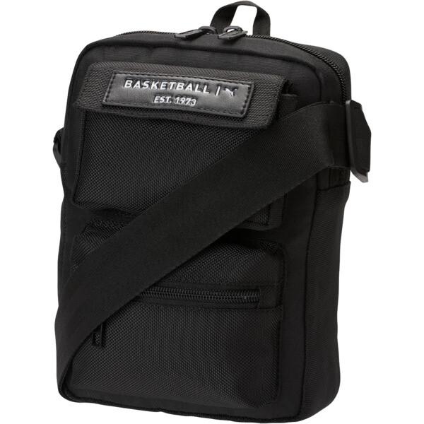 PUMA Solid Portable Shoulder Bag, Black, large