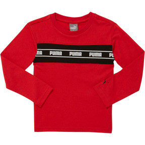 Thumbnail 1 of Amplified Pack Toddler Pieced Long Sleeve Tee, HIGH RISK RED, medium