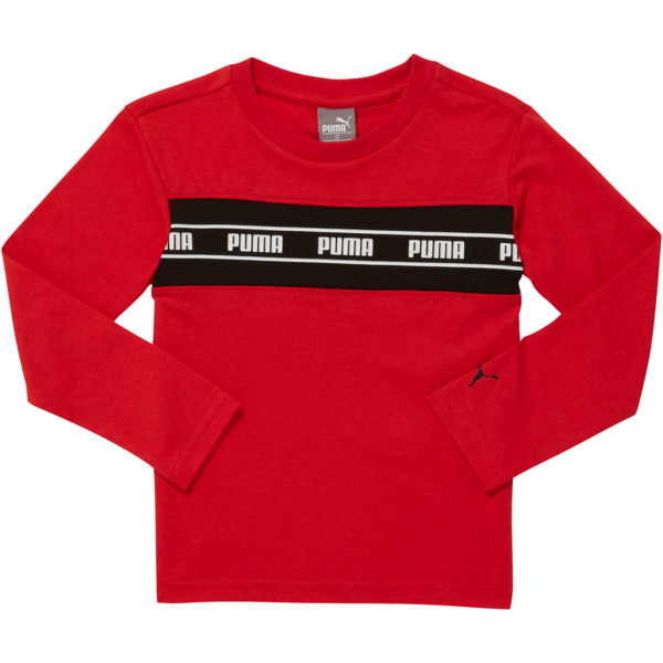 Amplified Pack Toddler Pieced Long Sleeve Tee, HIGH RISK RED, large