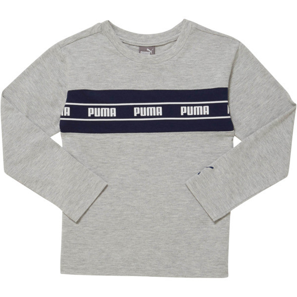 Amplified Pack Pieced Little Kids' Long Sleeve Tee, LT HEATHER GREY, large