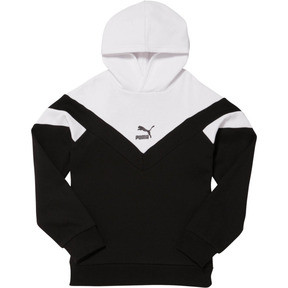 Thumbnail 1 of MCS Pack Boys' Colorblocked Hoodie JR, PUMA BLACK/WHITE, medium