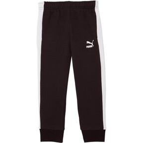 Thumbnail 1 of Little Kids' T7 Track Pants, PUMA BLACK/WHITE, medium