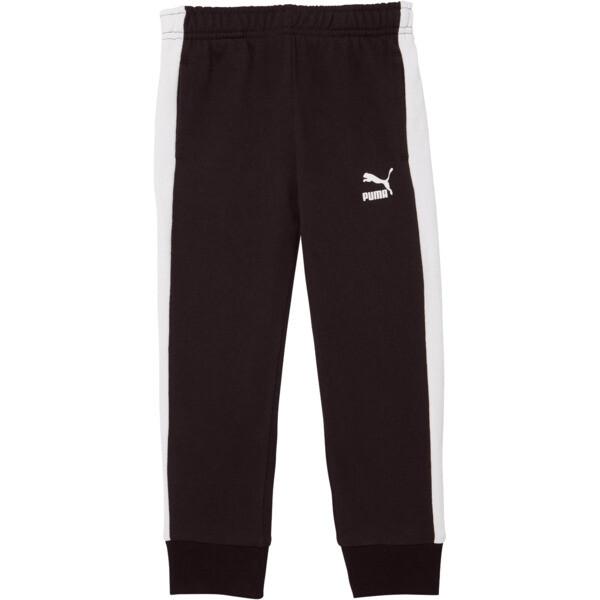 Little Kids' T7 Track Pants, PUMA BLACK/WHITE, large