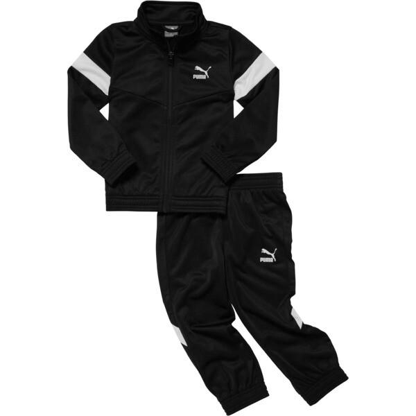 MCS Pack Infant Colorblock Tracksuit Set, PUMA BLACK, large