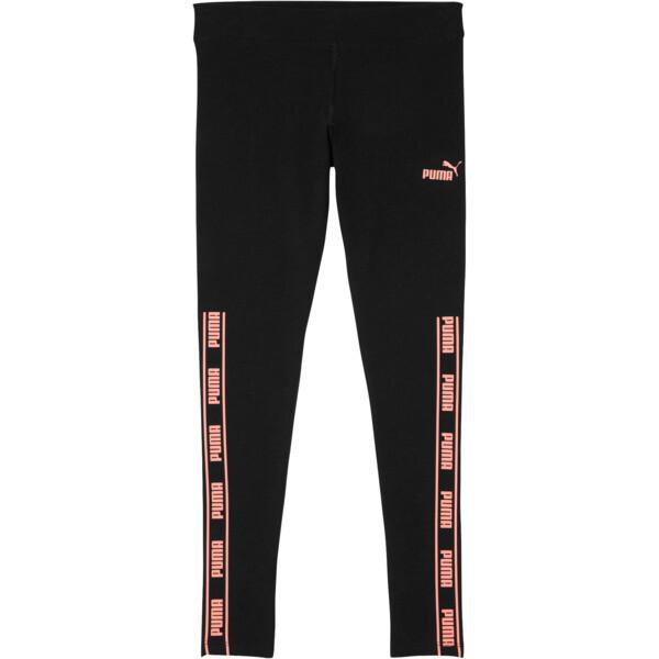 Amplified Pack Girls' Fashion Leggings JR, PUMA BLACK, large