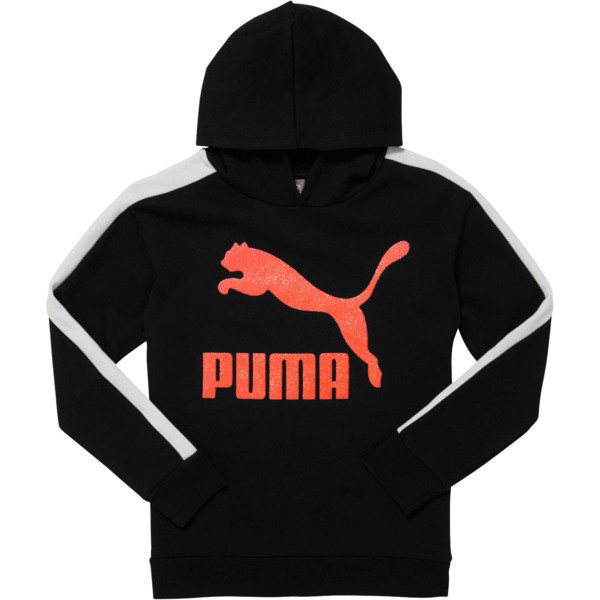 Classics Pack Girls' Archive Logo Fleece Hoodie JR, PUMA BLACK, large