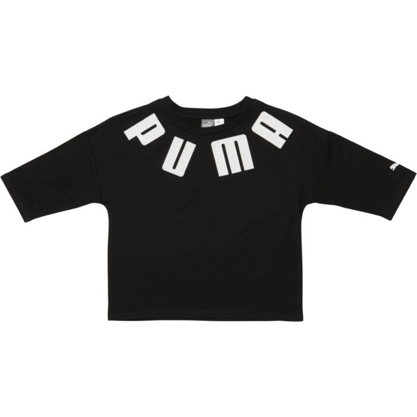LuXTG Girls' Fashion Tee JR, PUMA BLACK, large