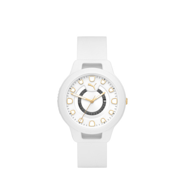 Reset Silicone V1 Women's Watch, White/White, large