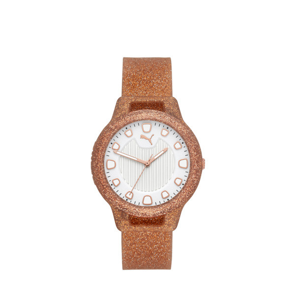 Reset Silicone V1 Women's Watch, Rose Gold/Rose Gold, large
