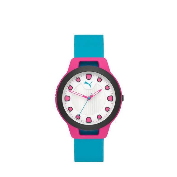 Reset Silicone V1 Women's Watch, Pink/Blue, large