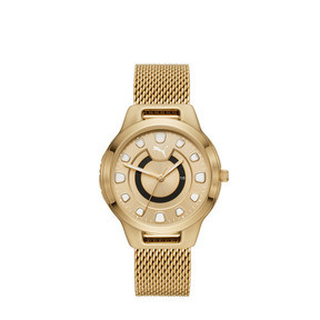 Thumbnail 1 of Reset Stainless Steel V1 Women's Watch, Gold/Gold, medium