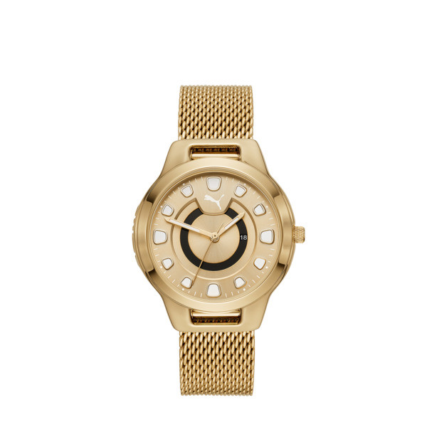 Reset Stainless Steel V1 Women's Watch, Gold/Gold, large