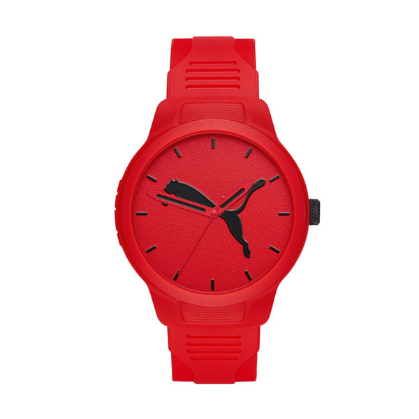 Reset Polyurethane V2 Men's Watch, Red/Red, large