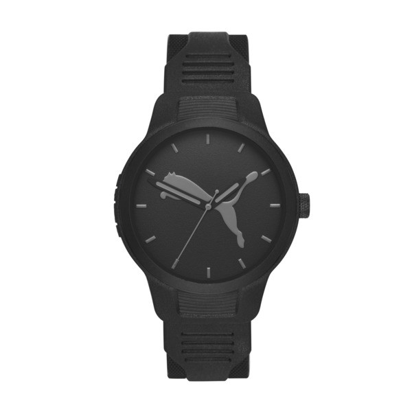 メンズ リセット ポリウレタン V2  時計, Black/Black, large-JPN