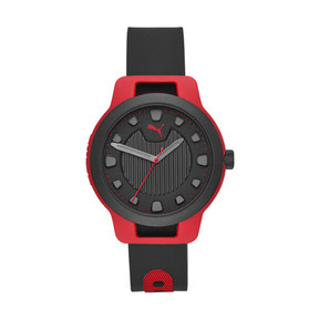 Thumbnail 1 of Montre Reset Silicone V1 pour homme, Red/Black, medium