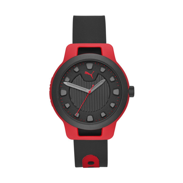 Montre Reset Silicone V1 pour homme, Red/Black, large