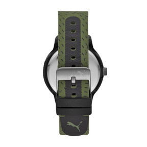Thumbnail 2 of Montre Reset Silicone V1 pour homme, Black/Green, medium