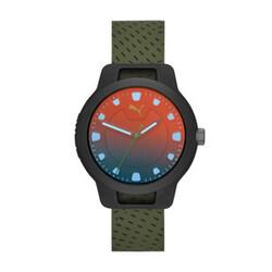 <プーマ公式通販> プーマ メンズ リセット シリコン V1 時計 メンズ Black/Green