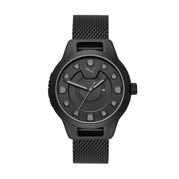 Montre Reset Stainless Steel V1 pour homme, Black/Black, large