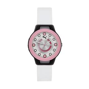 Thumbnail 1 van Reset Silicone horloge voor vrouwen, Zwart/wit, medium