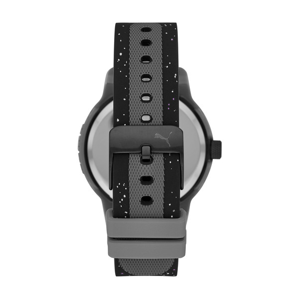 Reset Silicone Men's Watch, Grey/Black, large