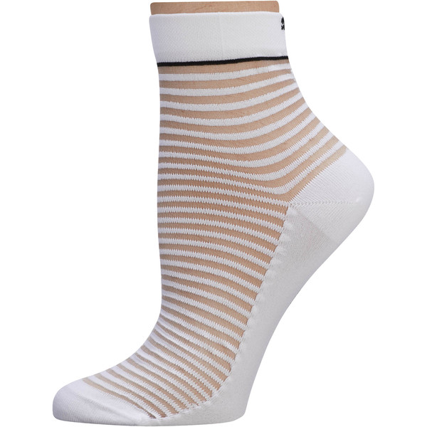 SG x PUMA Transparent Short Socks [1 Pair], White/Black, large