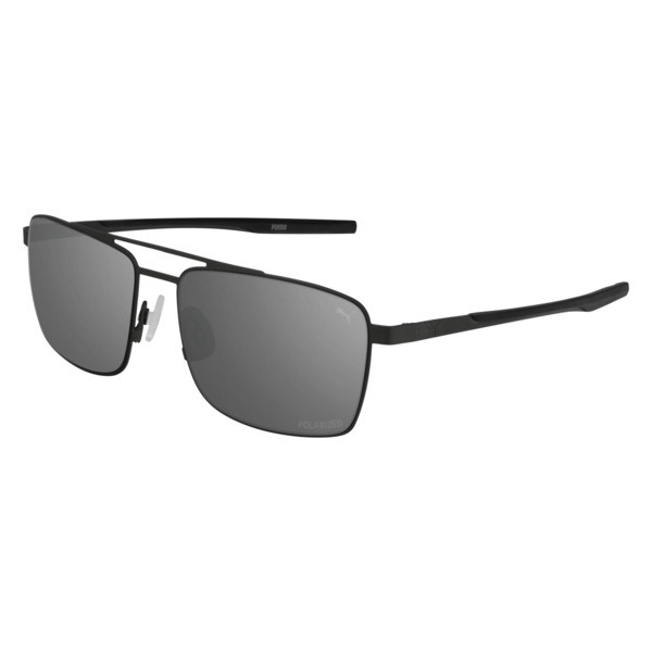 Newport Metal Aviator Sunglasses, RUTHENIUM-2, large