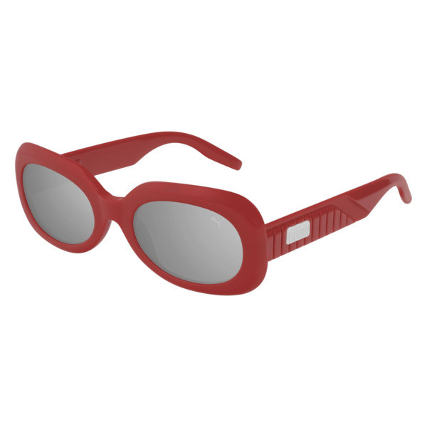 Ruby Oval Sunglasses, RED, large