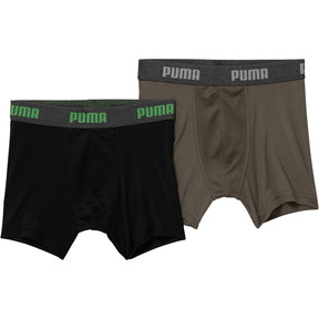 Thumbnail 1 of Boy's Performance Tech Boxer Briefs [2 Pack], BLACK / GREEN, medium