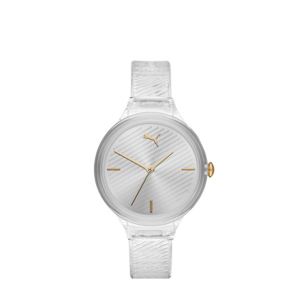 Contour Clear Watch, Clear/Clear, large