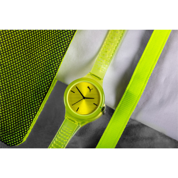 Contour Neon Watch, Yellow/Yellow, large