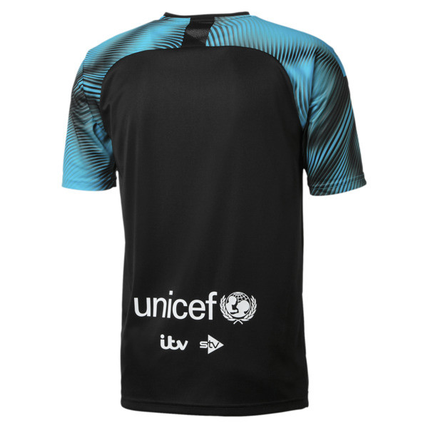 Soccer Aid World XI 2019 shirt, Zwart en cyaan, large