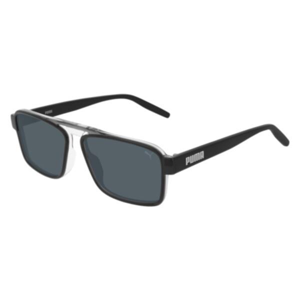 Puma Rush Hour Sunglasses In Grey/Black/Smoke