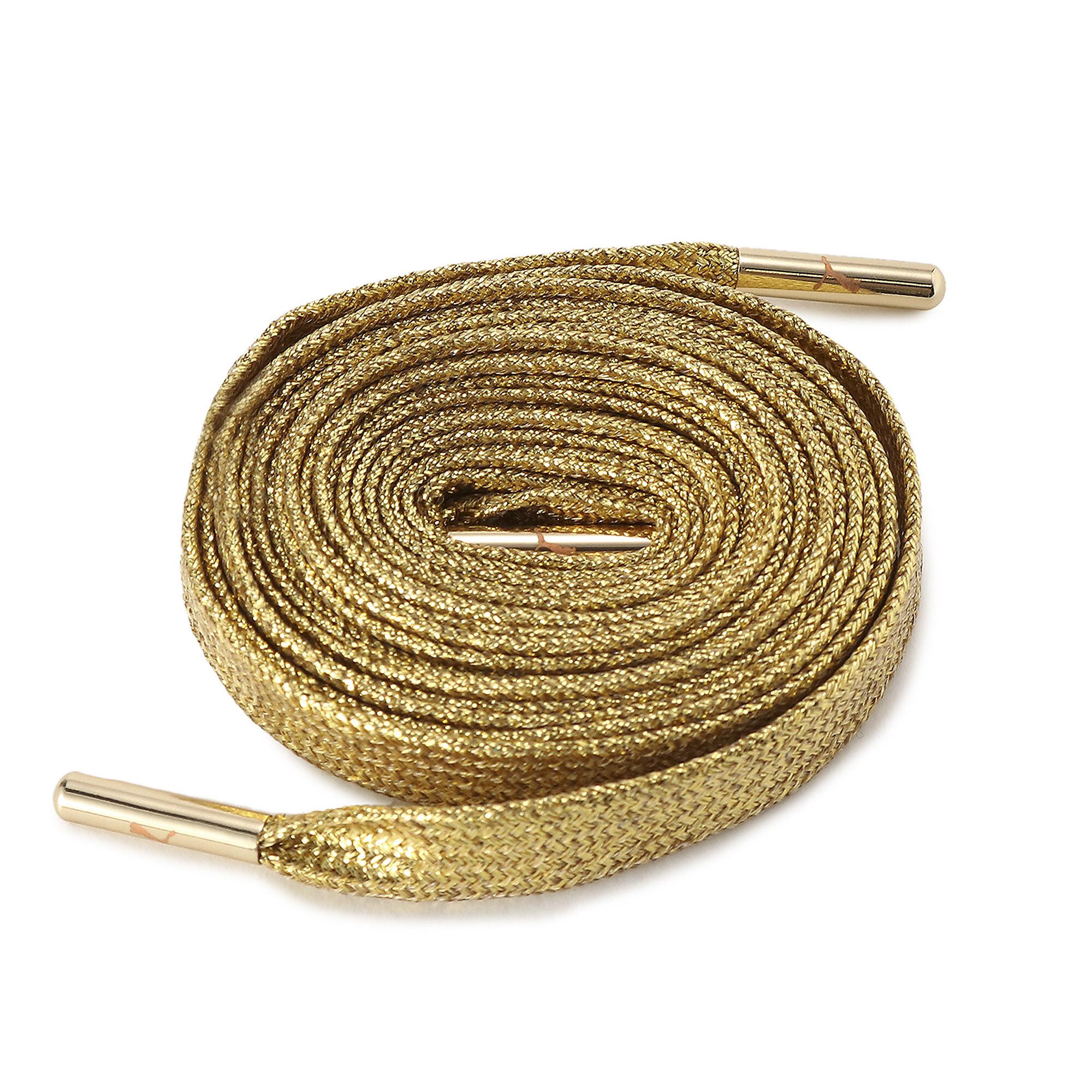 【プーマ公式通販】 プーマ シューレース メタリックチップ ゴールド ユニセックス Metallic Gold |PUMA.com
